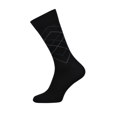 Mens Classic Black Socks with Diamonds