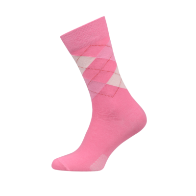 Ladies Argyle Socks Pink Colour
