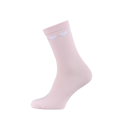 Ladies Casual Cotton Socks with Hearts Misty Rose