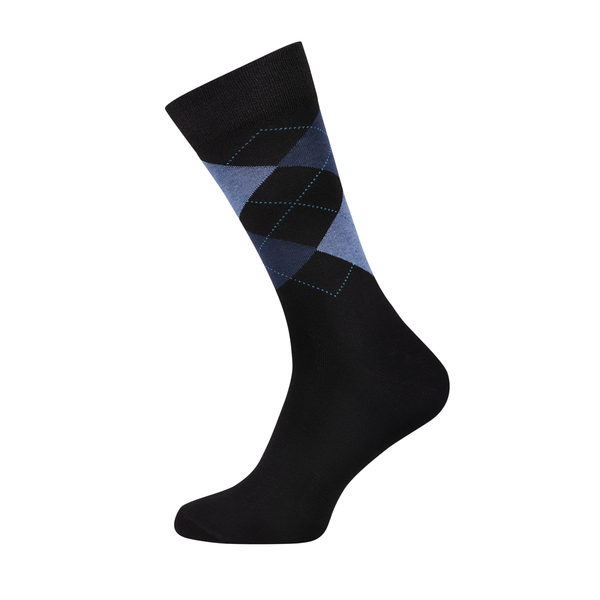 Argyle Classic Black Men's Socks