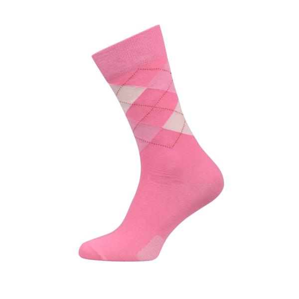 Ladies Argyle Combed Cotton Socks