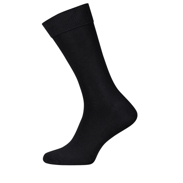 Business Black Socks with Breathable Area
