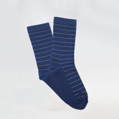 Bamboo boys socks with thin stripes