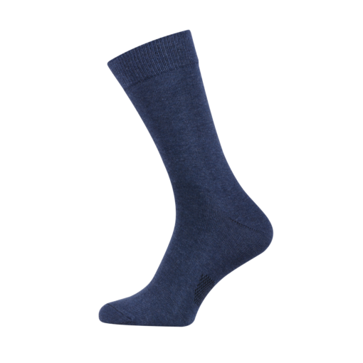 Classic Men's Socks Combed Melange Cotton Indigo