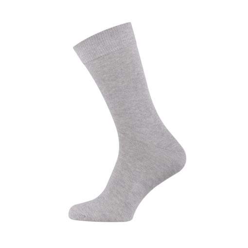 Classic Men's Socks Combed Melange Cotton Light Grey
