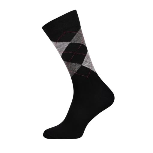 Men's Argyle Classic Socks Black