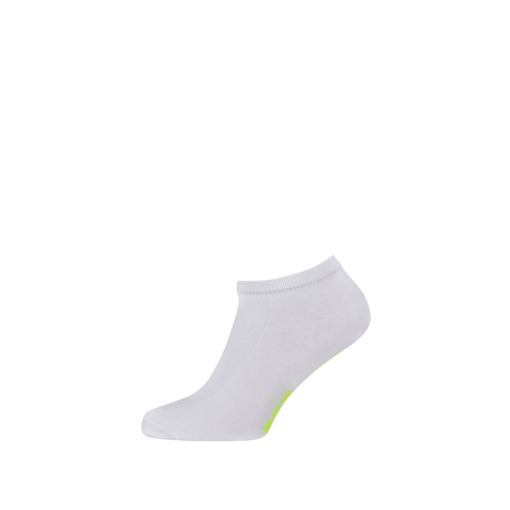 Breathable Ladies Sports Ankle Socks White and Green