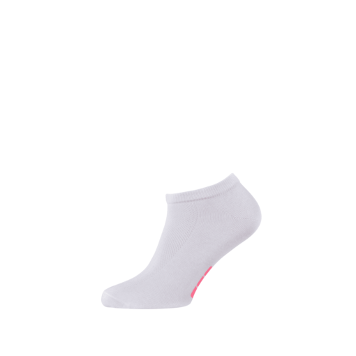 Breathable Ladies Sports Ankle Socks White and Pink