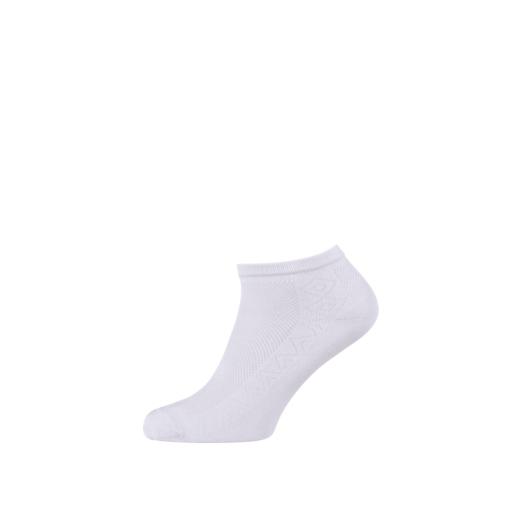 Breathable Women's Cotton Ankle Socks White