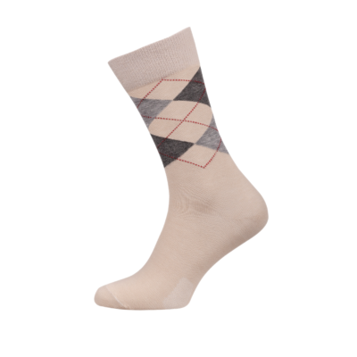 Ladies Argyle Socks Beige Colour