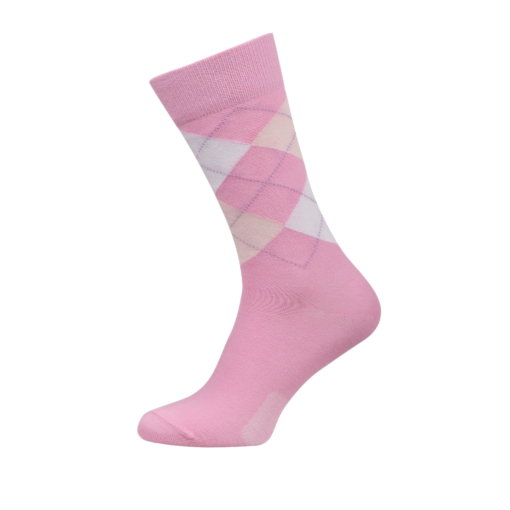 Ladies Argyle Socks Rose Colour
