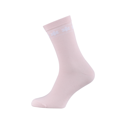 Ladies Casual Cotton Socks with Flowers Misty Rose Colour