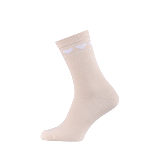 Ladies Casual Cotton Socks with Hearts Melon
