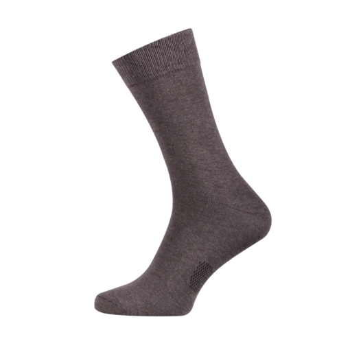 Classic Men's Socks Combed Melange Cotton Cheznut