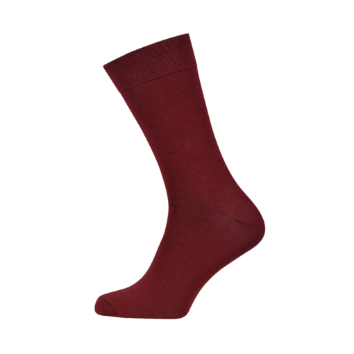 Mens Combed Cotton Socks Burgundi