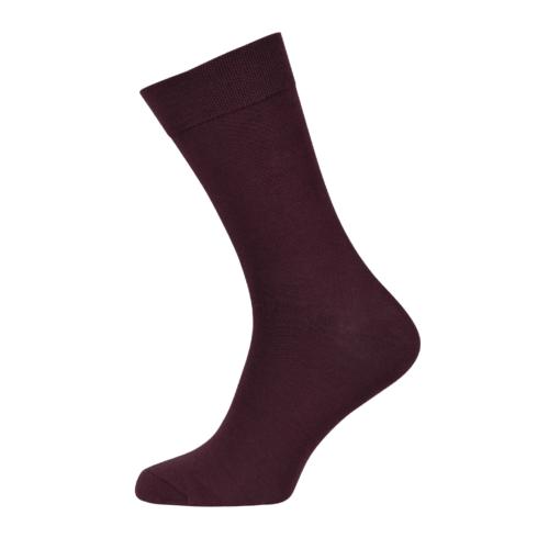 Mens Combed Cotton Socks Maroon